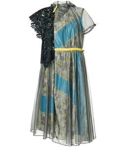 Платье с цветочным принтом и вставками Kolor