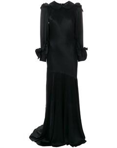 Вечернее платье с воротником Питер Пэн Simone rocha