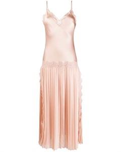 Платье со вставками из цветочного кружева Alberta ferretti