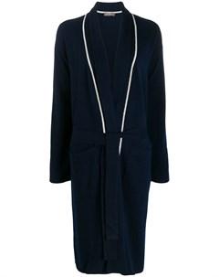 кашемировый халат с контрастными вставками N.peal