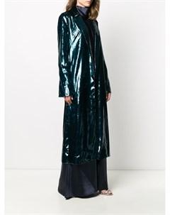 Однобортное пальто с драпировкой Galvan