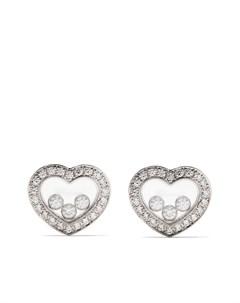 Серьги Happy Diamonds Icons из белого золота с бриллиантами Chopard
