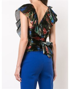 Плиссированная блузка с оборками Vionnet