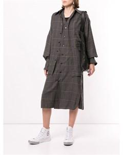 Платье рубашка в клетку Y's