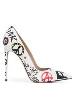 Туфли лодочки с заостренным носком и принтом Le silla