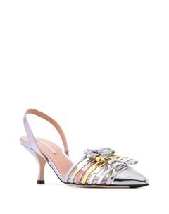 Туфли с бантом и эффектом металлик Marco de vincenzo