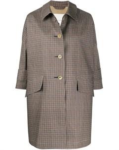 Пальто А силуэта на пуговицах в клетку Mackintosh
