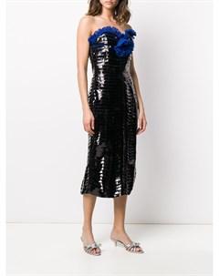 Платье с бюстье Marco de vincenzo