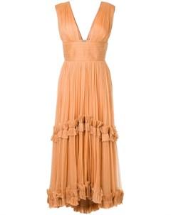 Плиссированное платье с оборками Maria lucia hohan
