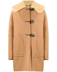 пальто с воротником из овчины Marni