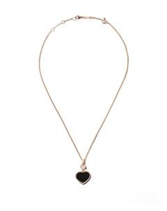 Колье Happy Hearts из розового золота с ониксом и бриллиантами Chopard