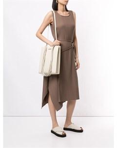 Платье трапеция асимметричного кроя с драпировкой Goen.j