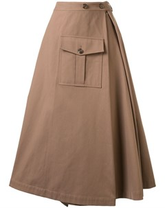 Расклешенная юбка миди асимметричного кроя Goen.j