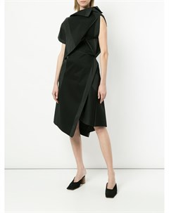 Асимметричное платье с принтом 132 5. issey miyake