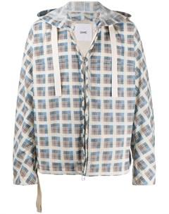 Клетчатая куртка с капюшоном Oamc