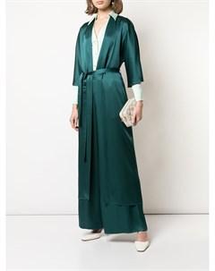 длинный атласный халат Sally lapointe