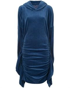 Велюровое платье с капюшоном Paula knorr