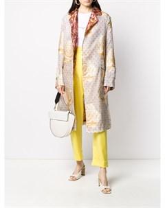 Пальто с принтом и поясом Vivienne westwood