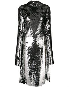 Асимметричное платье миди с пайетками Paula knorr