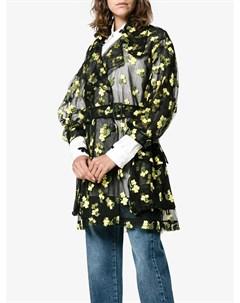 Тренч с цветочной вышивкой Simone rocha