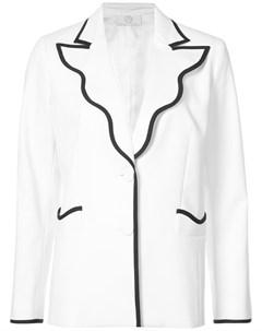 Облегающий пиджак с контрастной отделкой Sara battaglia