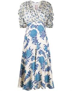 Платье миди с цветочным принтом Antonio marras