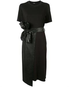 Платье из искусственной кожи и запахом Goen.j