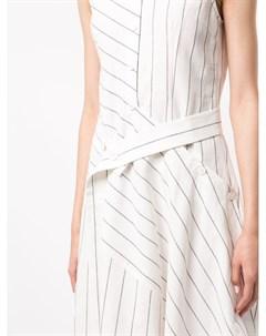 Платье миди в тонкую полоску Goen.j