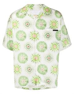 рубашка с цветочным принтом Prada