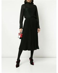 Плиссированная юбка миди Co