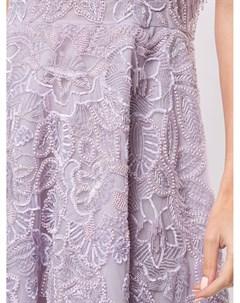Платье из тюля с цветочной вышивкой Zuhair murad