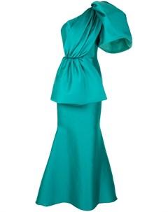 Атласное платье на одно плечо Isabel sanchis