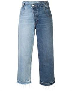 Широкие джинсы дизайна пэчворк Monse