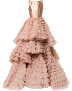 Многослойное вечернее платье Isabel sanchis