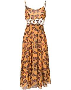 Платье с леопардовым принтом Tata naka