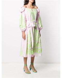 Платье Olive с цветочной вышивкой Yuliya magdych