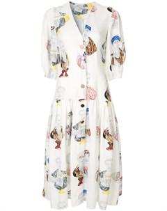 Платье миди с принтом Tata naka
