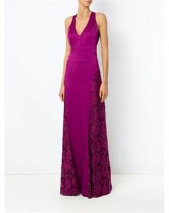 Вечернее платье с кружевной панелью Tufi duek