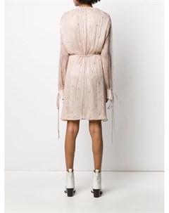 Платье с глубоким вырезом Amiri