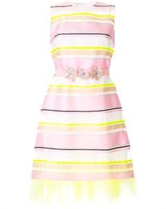 Полупрозрачное платье в полоску Delpozo