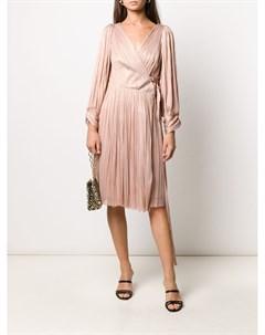 Плиссированное платье Dianys с запахом Maria lucia hohan
