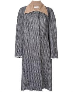 Однобортное пальто мешковатого кроя Litkovskaya