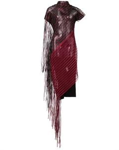 Полупрозрачное платье с бахромой Paula knorr