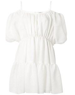 Платье мини с объемными рукавами и сборками Goen.j