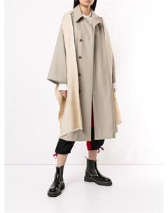 Пальто с декоративной шалью Y's