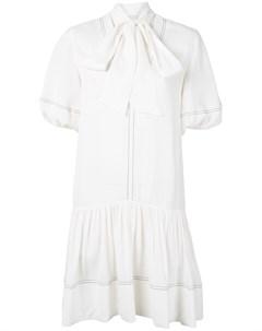 Платье мини с объемными рукавами Goen.j