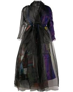 Пальто с абстрактным принтом Quetsche