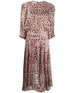 Платье Brooke с геометричным принтом Preen by thornton bregazzi