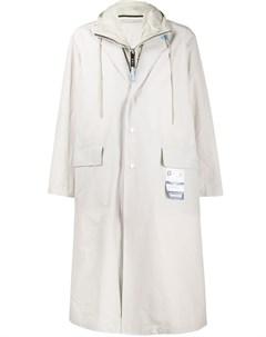 Однобортное пальто Maison mihara yasuhiro