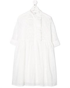 платье с оборками Fendi kids
